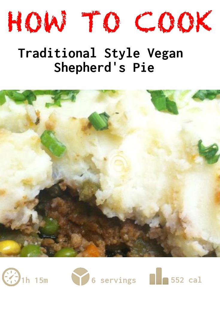 Traditional Style Vegan Shepherd's Pie