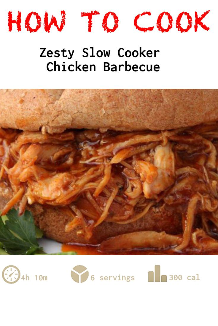Zesty Slow Cooker Chicken Barbecue