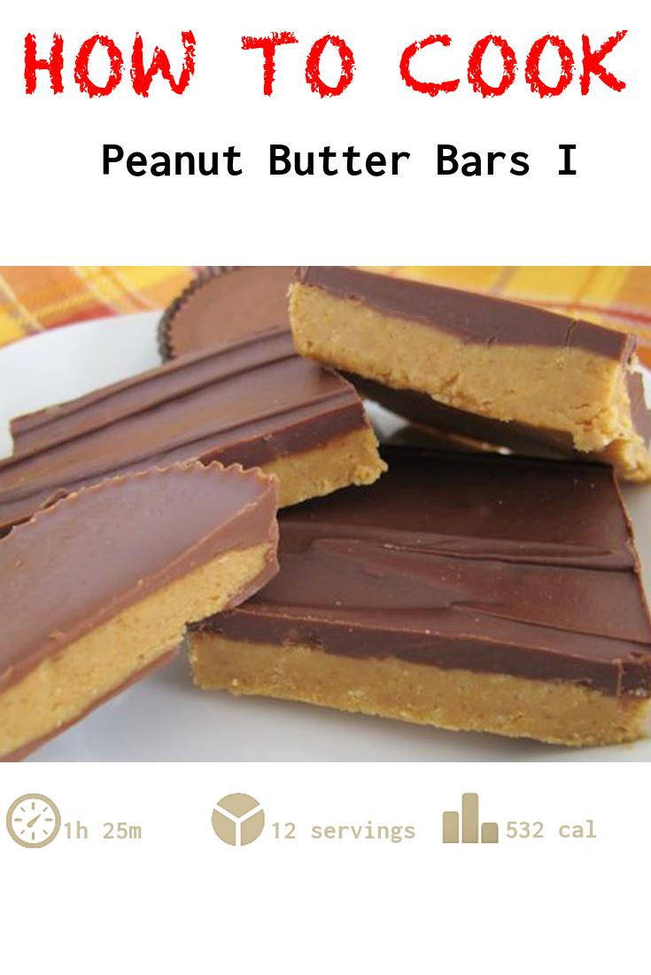 Peanut Butter Bars I